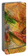 Abstract Color Swirls Portable Battery Charger