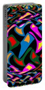 Abstract Colorful Art Exploded View Of Whirlwind At Its Builds On Dry Leaves Portable Battery Charger