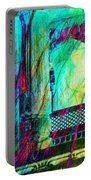 Abstract Colorful Window Balcony Exotic Travel India Rajasthan 1a Portable Battery Charger