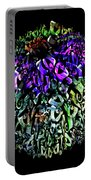 Abstract Cone Flower Digital Painting A262016 Portable Battery Charger
