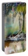 Abstract Contemporary Art Titled Humanity And Natures Gift By Todd Krasovetz  Portable Battery Charger