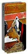 Abstract Cows Portable Battery Charger