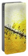 Abstract Crack Line On The Orange Rock Portable Battery Charger