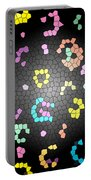 Abstract Creation With Small Shapes Colourful Portable Battery Charger