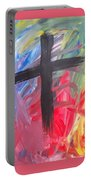 Abstract Cross Portable Battery Charger