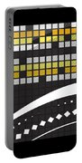 Abstract Crossword Puzzle Squares On Black Portable Battery Charger