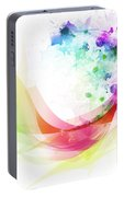 Abstract Curved Portable Battery Charger