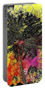 Abstract Dandelion Stained Glass Portable Battery Charger