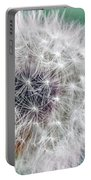 Abstract Dandy Lion - Teal Portable Battery Charger