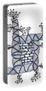 Abstract Design Of Stumps And Bricks #2 Portable Battery Charger