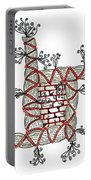 Abstract Design Of Stumps And Bricks Portable Battery Charger