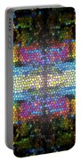 Abstract Digital Shapes Colourful Stained Glass Texture Portable Battery Charger