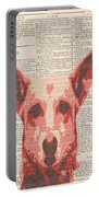 Abstract Dog On Dictionary Portable Battery Charger