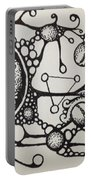 Abstract Drawing Portable Battery Charger