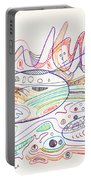 Abstract Drawing Nineteen Portable Battery Charger