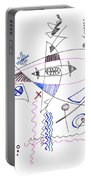 Abstract Drawing Sixty-four Portable Battery Charger