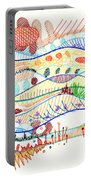 Abstract Drawing Three Portable Battery Charger