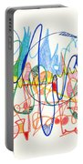 Abstract Drawing Two Portable Battery Charger