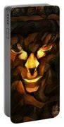 Abstract Face Portable Battery Charger