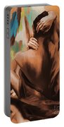 Abstract Female Back  Portable Battery Charger