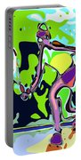 Abstract Female Tennis Player 2 Portable Battery Charger