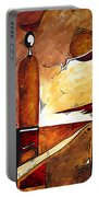 Abstract Figurative Art African Flame By Madart Portable Battery Charger