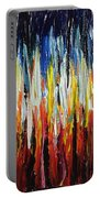 Abstract Fire And Ice Portable Battery Charger