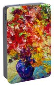Abstract Floral 1 Portable Battery Charger