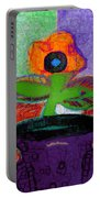 Abstract Floral Art 114 Portable Battery Charger