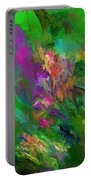 Abstract Floral Fantasy 071912 Portable Battery Charger