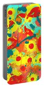 Abstract Floral Fantasy Panel A Portable Battery Charger