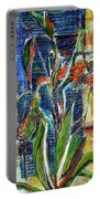 Abstract Floral Portable Battery Charger