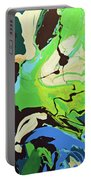 Abstract Flow Green-blue Series No.3 Portable Battery Charger