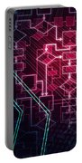 Abstract Flowchart Background Portable Battery Charger