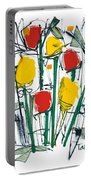 Abstract Flower Sixteen Portable Battery Charger
