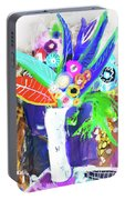Abstract Flowers Portable Battery Charger