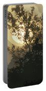 Abstract Foggy Sunrise Portable Battery Charger