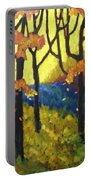 Abstract Forest Portable Battery Charger