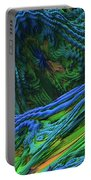 Abstract Fractal Landscape Portable Battery Charger