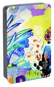 Abstract Garden Portable Battery Charger