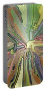Abstract Garden Wrapped Portable Battery Charger