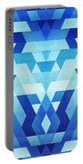 Abstract Geometric Triangle Pattern Futuristic Future Symmetry In Ice Blue Portable Battery Charger