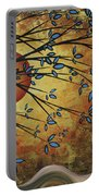 Abstract Golden Landscape Art Original Painting Peaceful Awakening I Diptych Set By Megan Duncanson Portable Battery Charger