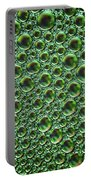 Abstract Green Alien Bubble Skin Portable Battery Charger