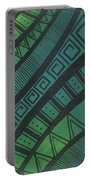 Abstract Green Portable Battery Charger