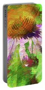 Abstract Harmony Portable Battery Charger by Jessica Manelis