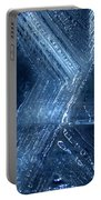 Abstract Ice. Darkness Portable Battery Charger