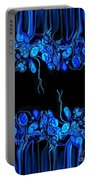 Abstract In Blue 2 Portable Battery Charger