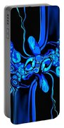 Abstract In Blue 3 Portable Battery Charger
