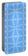Abstract In Blue Portable Battery Charger